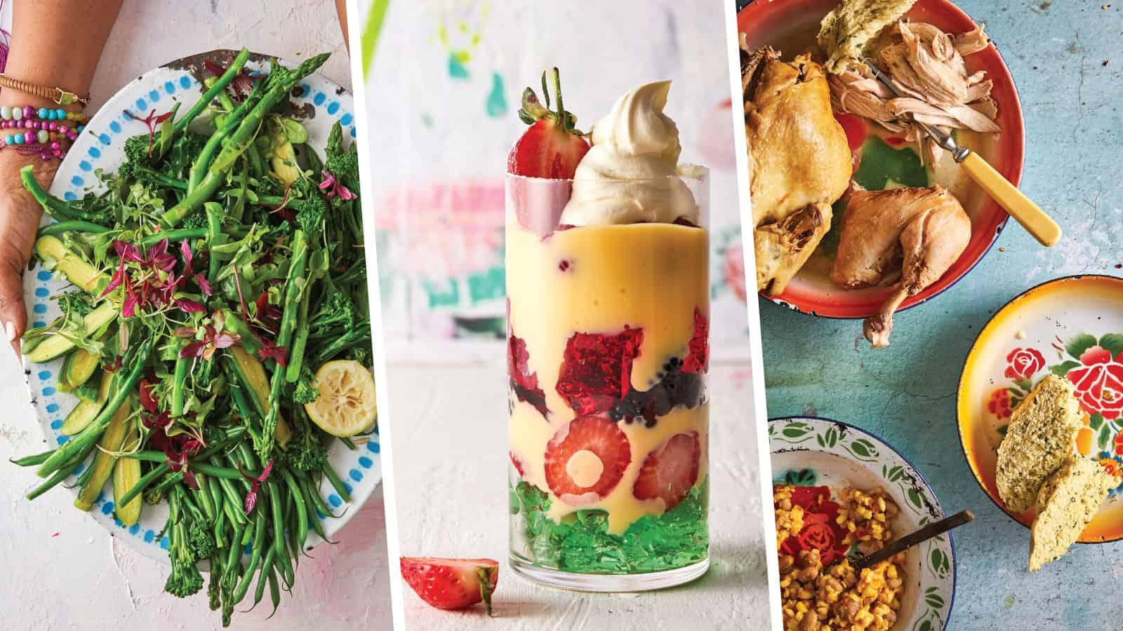 Kitchen Queen, Lucia Mthiyane makes greens, Zulu chicken and trifle. Photos: Supplied