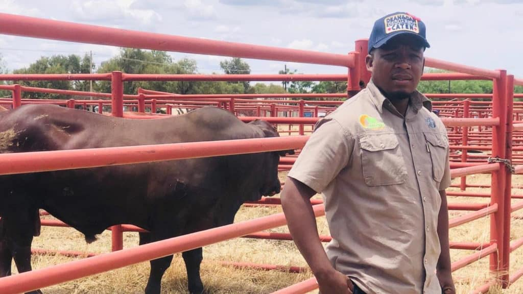 Olerile Lekgetho, a livestock and vegetable farmer from Taung in North West. Photo: Supplied/Food For Mzansi