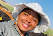 Sinokuphile Kekezwa (27) runs a dairy unit for one the biggest dairy corporations, Amadlelo Agri. Photo: Supplied.