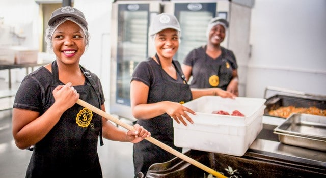 The Pebbles kitchen is improving the lives of farmer's kids within the agricultural communities of Western Cape. Photos: Pebbles Project.