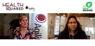 Marcia le Roux, sales executive at Agility Agri, in conversation with Dawn Noemdoe, Food For Mzansi's editor: audience and engagement. Photo: Supplied