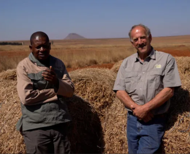 Petrus Tsotetsi with his mentor and friend, Bertus Cordier. Photo: Food For Mzansi