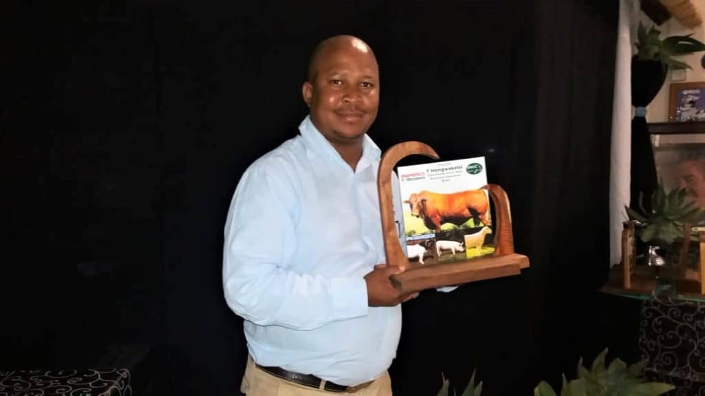 Tiro Mongwaketsi was recently named National Commercial Beef Producer of the Year for 2020. Photo: Supplied.