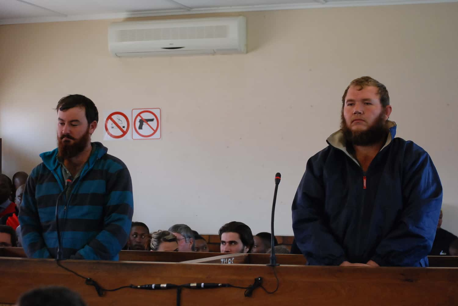 Pieter Doorewaard and Phillip Schutte were previously found guilty on charges of murder, kidnapping, intimidation and pointing a firearm last year. Photo: Supplied