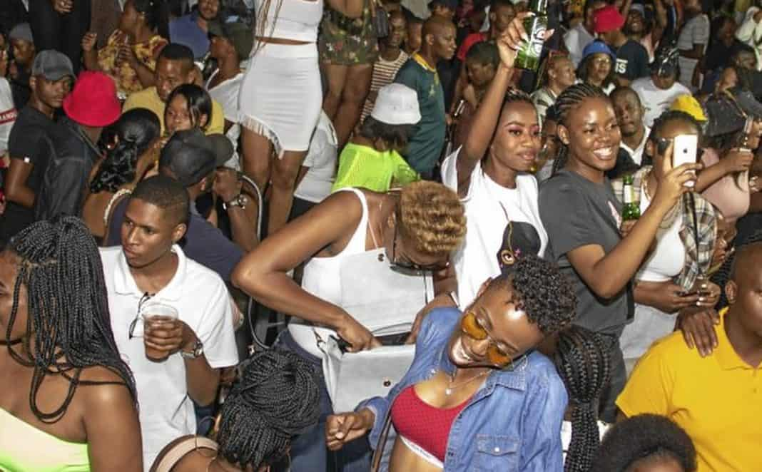 Pandemic? What pandemic?! Partygoers recently at the Ga-Rankuwa Shisanyama in Pretoria. They caused an uproar on social media after Facebook pictures of them not wearing masks or maintaining social distancing as advised by health experts. Photo: Facebook