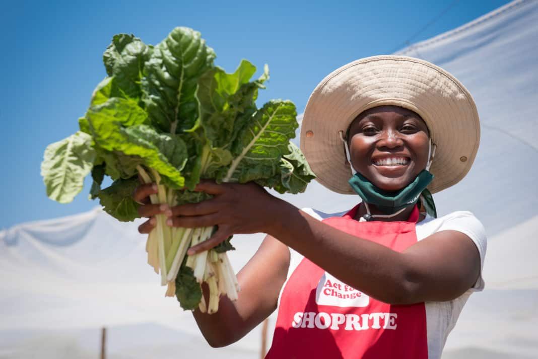 Pictured: Ester Moatse, group leader of the Maumong Community Food Garden. Photos: Shoprite.