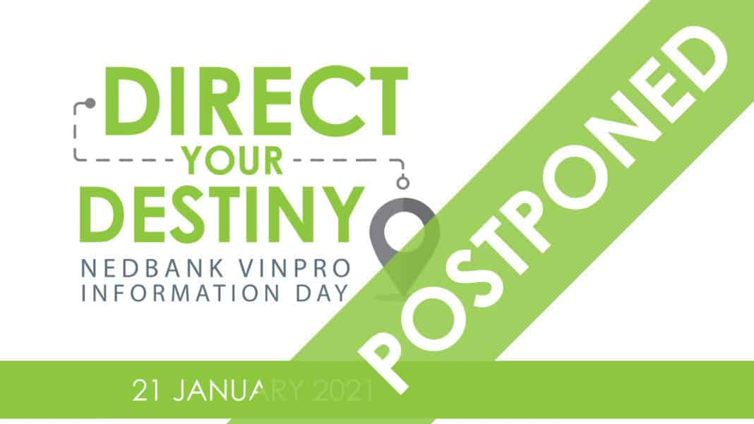 The Nedbank Vinpro Information day has been postponed and a new date is yet to be confirmed. Photo: Supplied.
