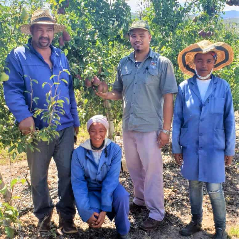 Paul Lombard and colleagues Eaven Prinsloo, Renthia Rietels and Rebecca Kameni. Photo: Supplied/Food For Mzansi