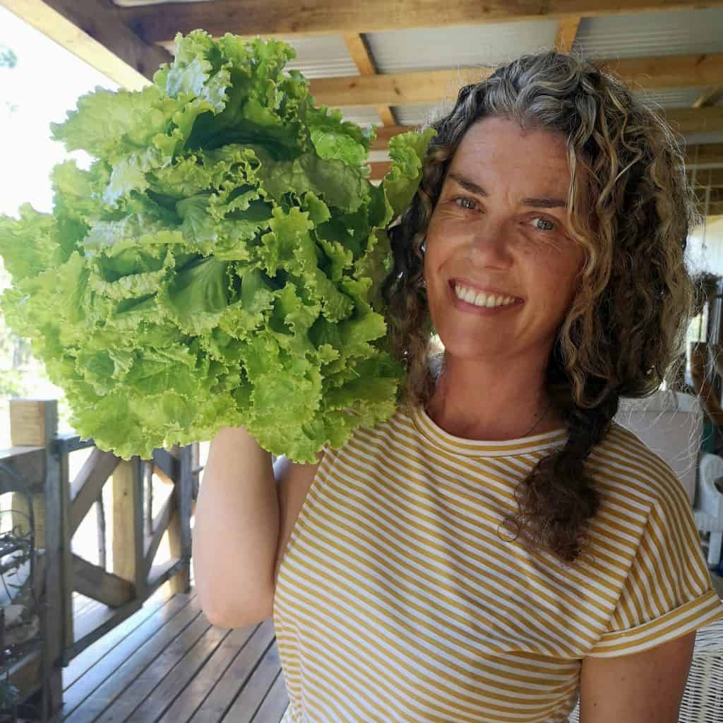 Gaye Boshoff, owner of Honeymoon Farms in Knysna in the Western Cape.  The farm is known for its organic fruit and veggies. Photo: Supplied/ Food For Mzansi