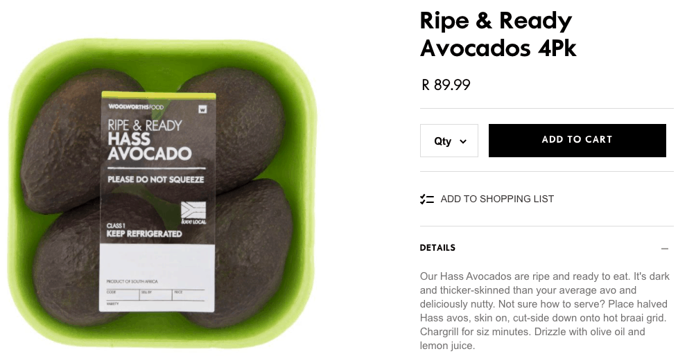 Ok, let's play a little guessing game. If you had to choose between Checkers, Pick n Pay and Woolworths, where do you expect to pay the most for a four-pack of ripe and ready avocados? Photo: Food For Mzansi