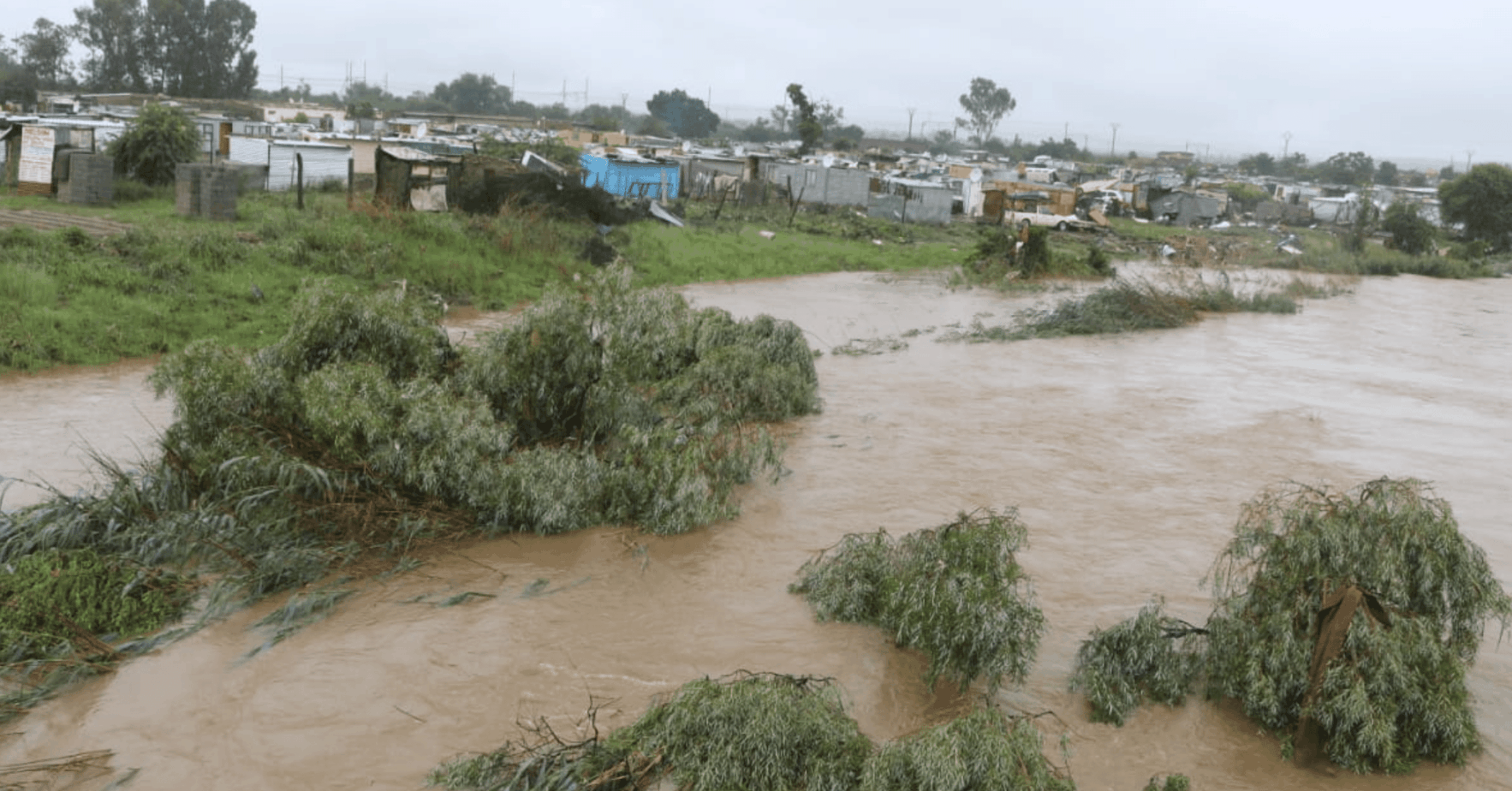 Government confirms that a multi-disciplinary intervention has been launched to curb the impact of tropical storm Elouise. Floods in parts of Gauteng, North West, Limpopo and Mpumalanga have caused severe damage. Photo: @NationalCOGTA/Twitter