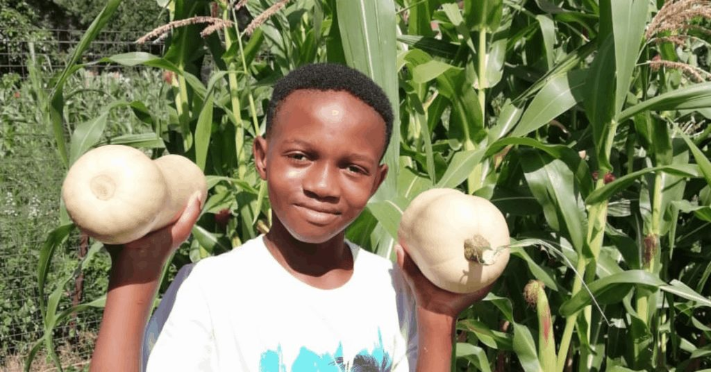 Rearabilwe Mogale comes from a lineage of avid home gardeners. In his vegetable garden you will find everything from mielies and butternuts to beans. Photo: Supplied/Food For Mzansi