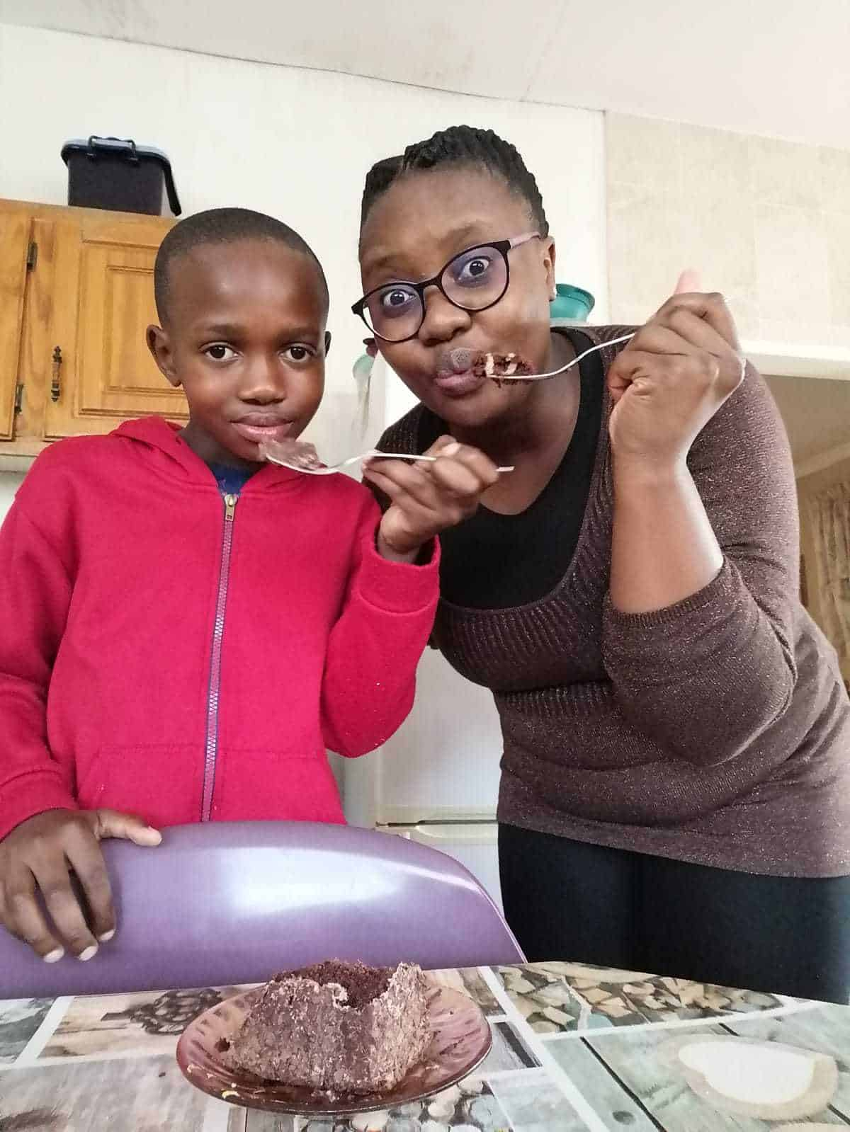 When Rearabilwe Mogale (11) isn't in his veggie garden, he can be found cooking up a storm with his grandmother, Nelly Mogale. Photo: Supplied/Food For Mzansi