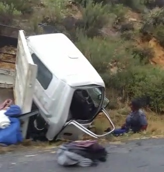 A cell phone video and pictures of the aftermath of a Breede Valley accident early in January 2021 were widely shared on social media. Farmworkers were seriously injured. Photo: Facebook