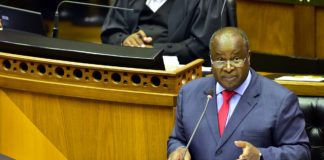 Finance minister Tito Mboweni delivers his 2021 budget speech in Parliament. Picture: GCIS/Flickr
