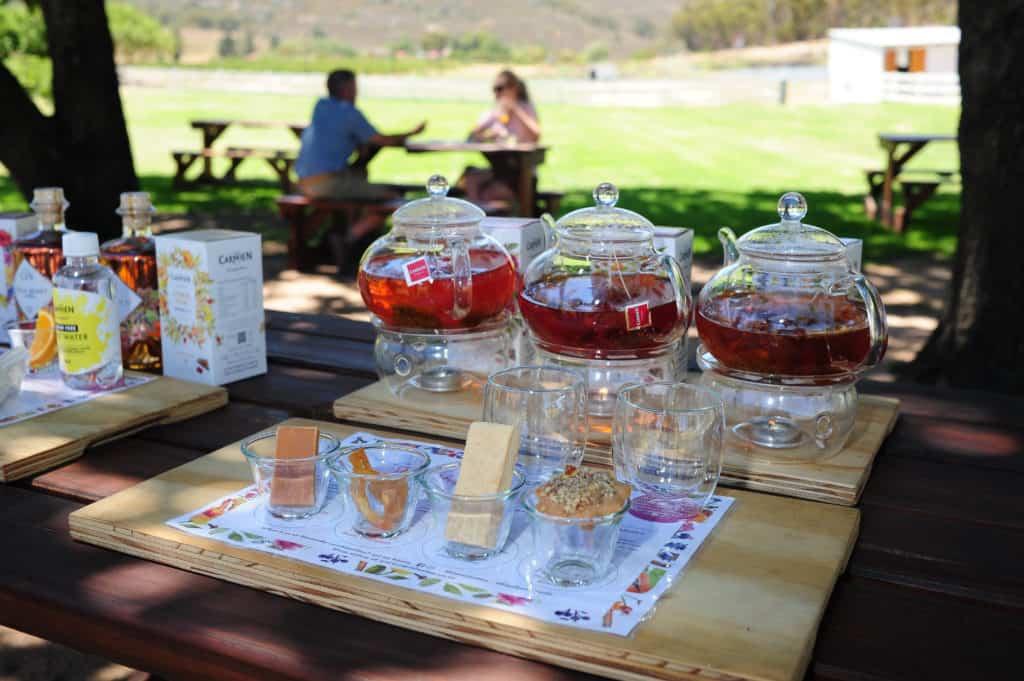 Tea pairing at De Tol Farm Deli in Citrusdal. Carmién Tea has developed an interesting tea paring experience for visitors. Photo: Henk Kruger/African News Agency (ANA)