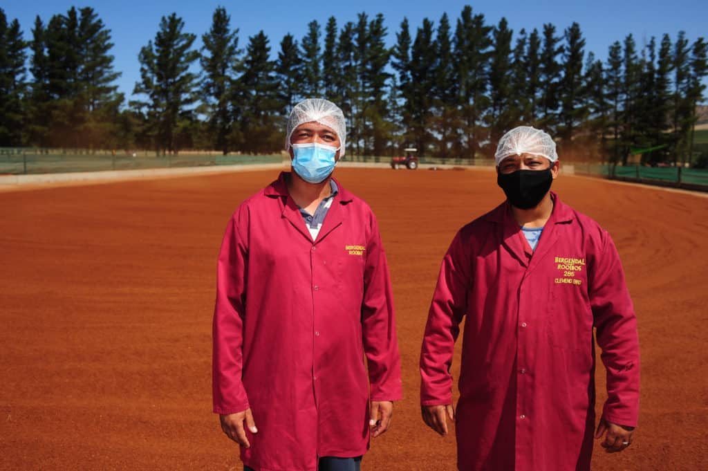 Line manager Wilfred Booise and production manager Clemend Bird at Bergendal. Photo: Henk Kruger/African News Agency (ANA)