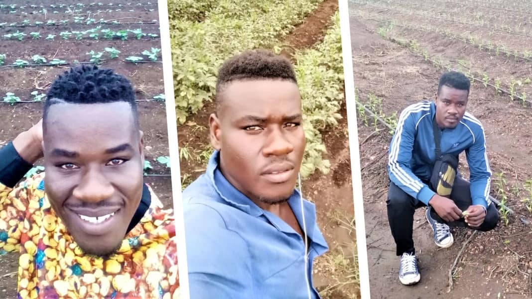 Africa Mafela eventually followed in his father's farming footsteps after his misfortune in electrical engineering. Photo: Supplied/FoodForMzansi