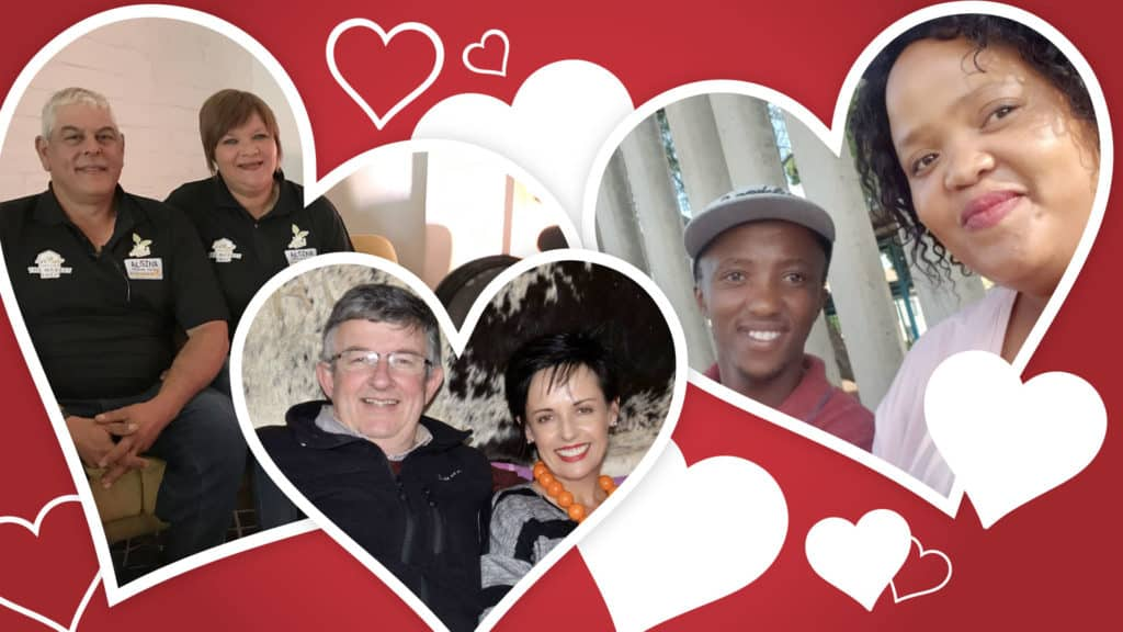 Some of Mzansi's farmers share their secrets for love and relationships. Pictured, from the left, are Alan and Eugene Simons from the Western Cape, Dr Pieter and Marietha Prinsloo from the Eastern Cape, and Sipiwe Dlamini and Lerato Senakhomo from Gauteng. Photo's: Supplied/Food For Mzansi