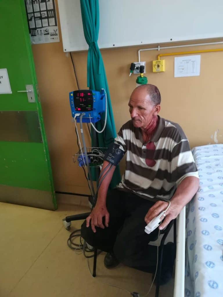 Land reform: Ivan Cloete, a Western Cape farmer, was allegedly attacked by a disgruntled person who previously claimed rights to his Porterville farm. Photo: Supplied/ Food For Mzansi