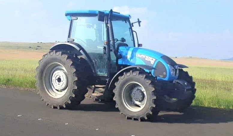 According to Maleho Kodisang, a farmer from Thaba 'Nchu in the Free State, the police have recovered two tractors stolen on his farm. This includes a brand-new Landini Landforce 125. Photo: Supplied/Food For Mzansi