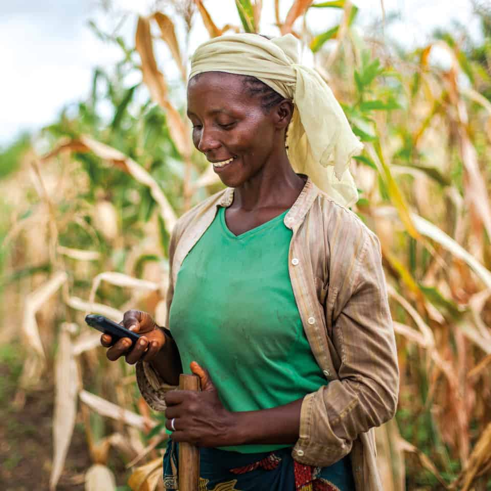 African women in agriculture: The power of mobile technology for trainings and standard agricultural extension programs can address barriers that women farmers in Africa face. Photo: Supplied/Food For Mzansi