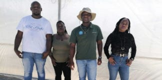 Young farmers operating under the Thlapi Zizi banner will be given access to a new state-owned farm following Ivan Cloete's victory on Colenso farm. From the left are Roger Paulus, Bakang Monegi, Pholoso Malatji and Naomi Malatji. Photo: Food For Mzansi