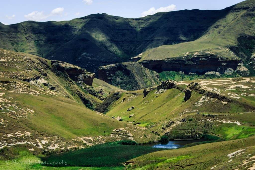 Population growth: A view of the Langtoon Dam in the Golden Gate Highlands National Park. The park is an area of rich highveld and montane grassland flora. Photo: Pinterest
