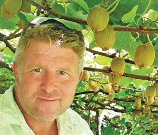 Peter Nicholson, a gold kiwi farmer from KwaZulu-Natal. Photo: Supplied/Food For Mzansi