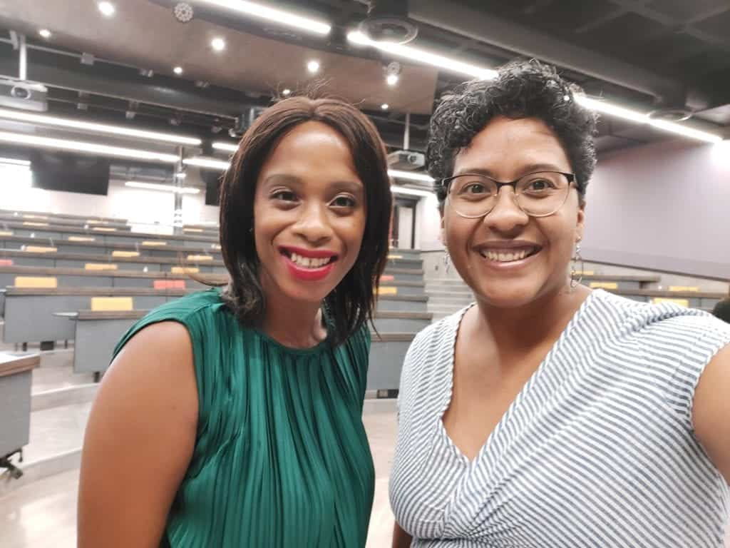 Mbali Nwoko, the CEO of Green Terrace, with Dawn Noemdoe, Food For Mzansi's editor: audience and engagement. Photo: Food For Mzansi