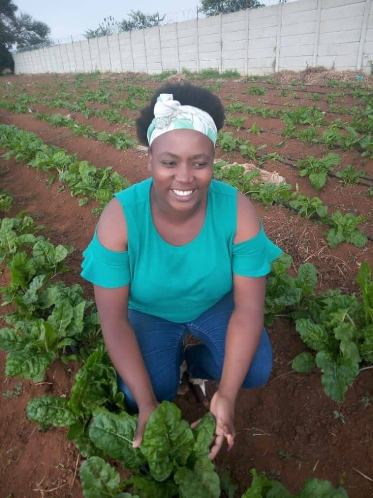 Musa Gamede built a thriving vegetable business alongside her husband, David Mabasa, in Benoni, Gauteng. Photo: Supplied/Food For Mzansi