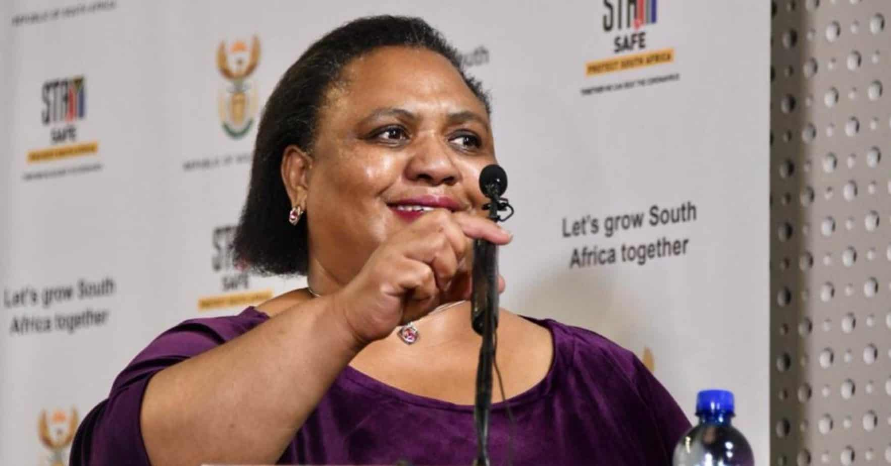 The minister of agriculture, land reform and rural development, Thoko Didiza, announces the new the Land Court Bill earlier today. Photo: GCIS/Flickr