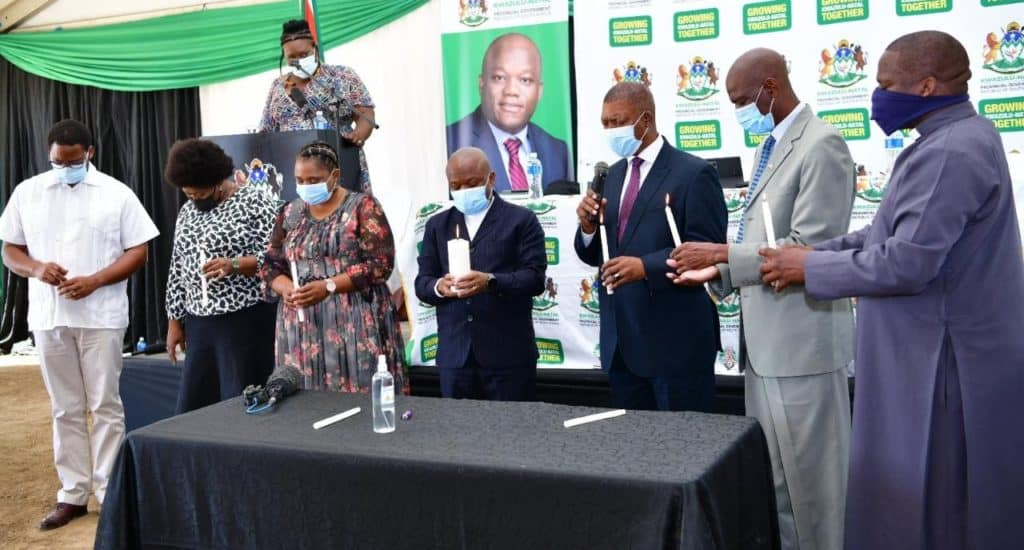 KwaZulu-Natal premier Sihle Zikalala led a candle light ceremony to call for peace and social cohesion among farming communities in the province. Photo: Supplied/Food For Mzansi