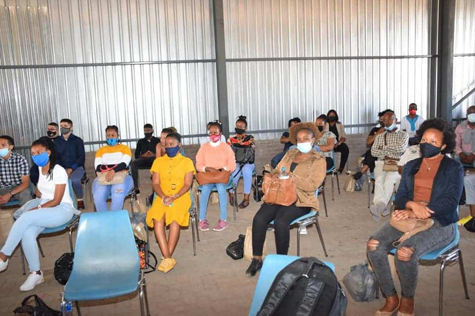 Agricultural graduates listen attentively as the Northern Cape welcomes them to a work-based programme on farms across the province. Photo: Supplied/Food For Mzansi