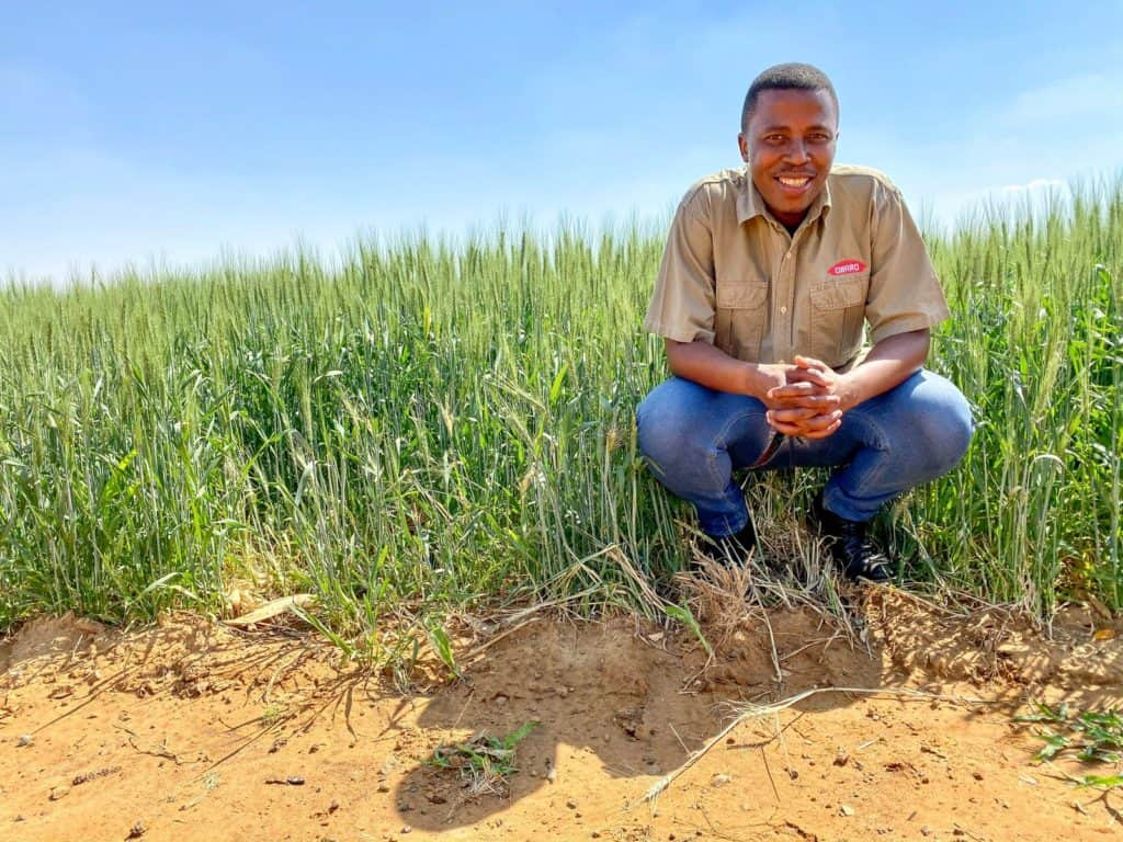 Buchule Pama, farmer at Amiline in Bothaville, Free State. He has been farming here with potatoes, maize, wheat, and cattle since 2017. Photo: Supplied
