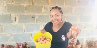 Lungelo Ndebele is the owner of Eggsclusive Eggs, which she started with her own money. Photo: Supplied/Food for Mzansi