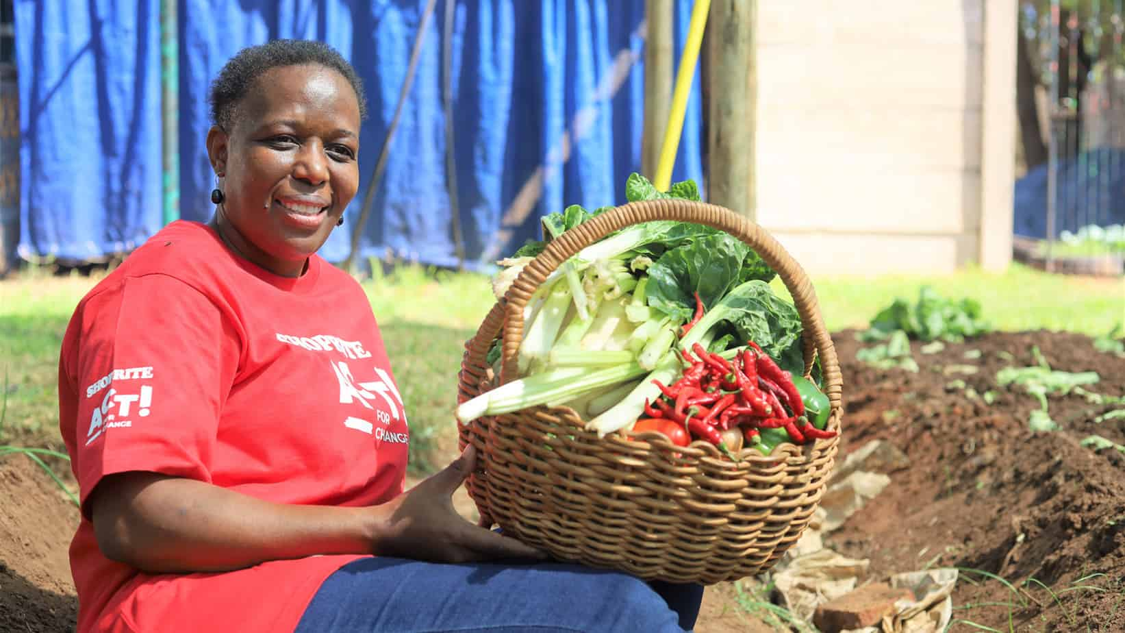 Nelly Komape desire to be an example to her community and help feed those in need resulted in the birth of a sizeable backyard garden feeding members of her community. Photo: Shoprite/Supplied