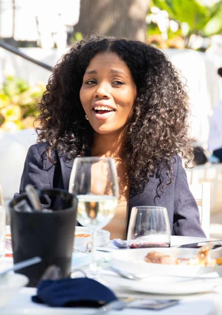 Jo-Ann Prinsloo, a radio personality with Radio KC 107.7 FM, graced Sinelizwi guests with her presence. Photo: Food For Mzansi