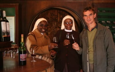 They came from a place called Mbarara in Uganda. The Switzerland of Africa, some say, to learn from a South African winemaker, Philip Jonker. Photo: Supplied/Weltevrede