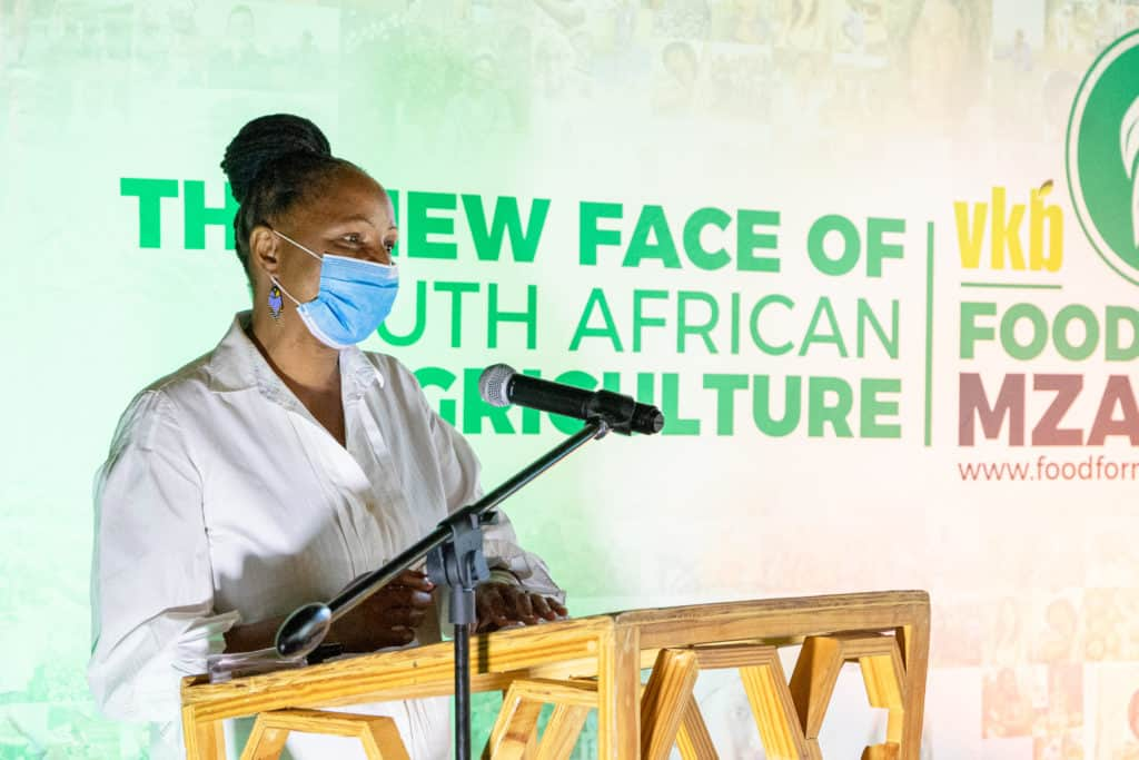 Busisiwe Mngaxela was there when Food For Mzansi first launched Sinelizwi in Mkhubiso, a rural village in the Eastern Cape. Besides being an agro-ecological farmer, she has also completed the citizen journalism programme. Photo: Food For Mzansi
