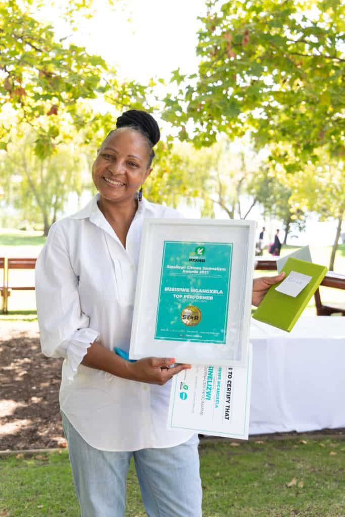 Eastern Cape farmer Busisiwe Mngaxela was announced as the province's top Sinelizwi performer. Photo: Food For Mzansi