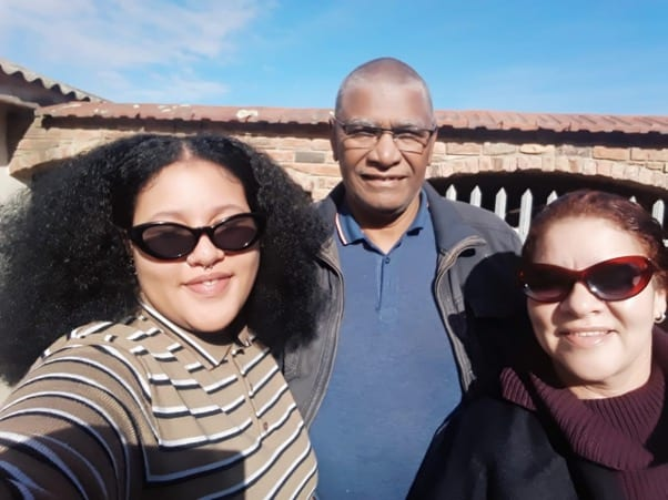 Easter memories: Lucinda Dordley and her parents, Victor and Moira. Photo: Supplied/Food For Mzansi