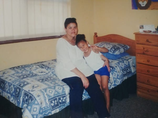 Easter memories: A childhood picture of Lucinda Dordley and her mother, Moira. Photo: Supplied/Food For Mzansi