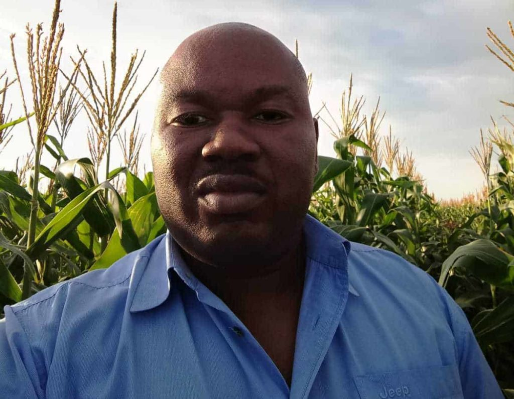 Thabani Nxumalo's (37) farming future hangs in the balance in the Gert Sibande district in Mpumalanga. In 2019, Nxumalo was evicted from his commercial-scale farm. Photo: Supplied/Food For Mzansi