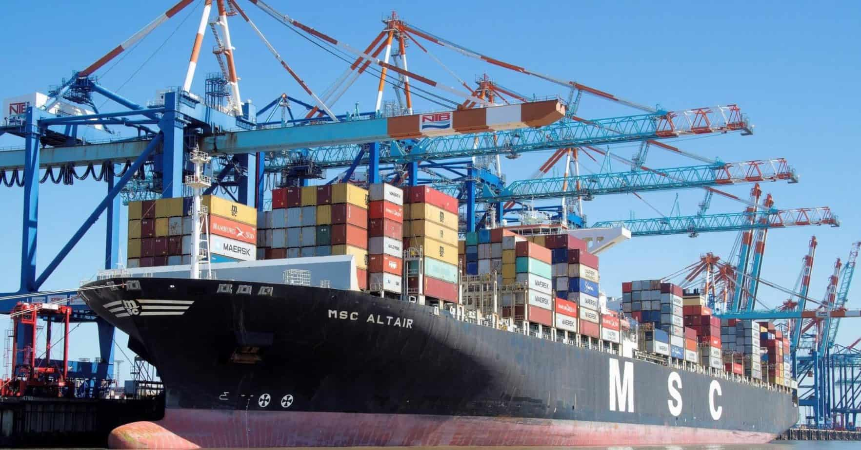 """MSC South Africa confirms that the MSC Altair was originally scheduled to sail from the Far East to West Africa. However upon intervention the vessel was diverted to the Port of Ngqura to cater to the export fruit market which is """"very crucial to the economy of South Africa"""". Photo: Supplied/Food For Mzansi"""