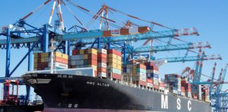 "MSC South Africa confirms that the MSC Altair was originally scheduled to sail from the Far East to West Africa. However upon intervention the vessel was diverted to the Port of Ngqura to cater to the export fruit market which is ""very crucial to the economy of South Africa"". Photo: Supplied/Food For Mzansi"