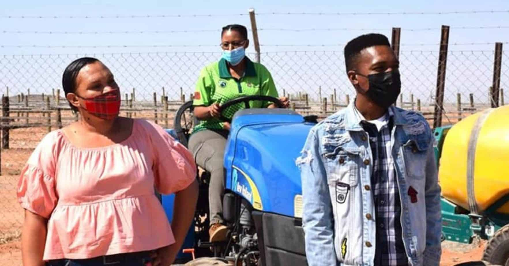 Northern Cape agriculture MEC Mase Manopole pledged her department's support to 75 agricultural graduates placed on farms across the province. Photo: Supplied/Food For Mzansi
