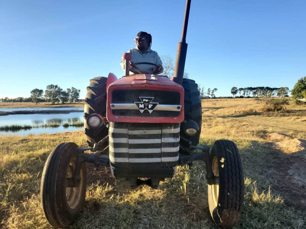 SoilSistas | Nobuntu Makhoa, who used to see farming duties as a chore, has taken farming in her stride and is looking forward to expanding her agri enterprise. Photo: Supplied