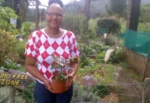 Busisiwe Mgangxela has hung up her nursing epaulets to farm, growing medicinal foods in East London. Photo: Supplied/ Food For Mzansi