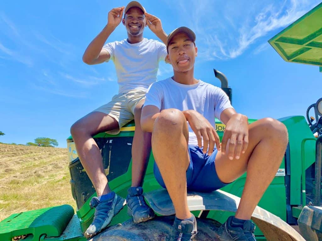 KwaZulu-Natal young farmer Phikolomzi Dlamini is inspired by the work of his mentor and fellow Cedara alumnus Andile Ngcobo. Photo: Twitter
